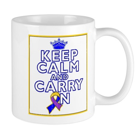 Bladder Cancer Keep Calm Carry On Mug