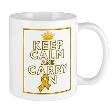 Appendix Cancer Keep Calm Carry On Mug