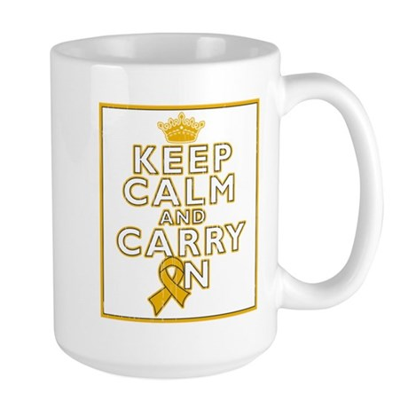 Appendix Cancer Keep Calm Carry On Large Mug
