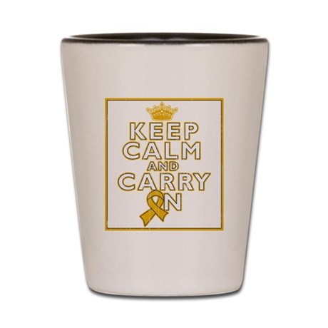 Appendix Cancer Keep Calm Carry On Shot Glass