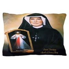 Saint Faustina Apostle of Divine Mercy Pillow Case