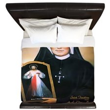 Saint Faustina Apostle of Divine Mercy King Duvet