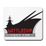 Battleship Pretension Logo Mousepad