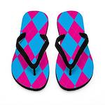 Argyle Flip Flops