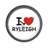 I love Ryleigh Wall Clock