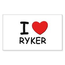 I love Ryker Rectangle Decal