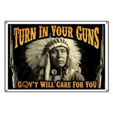 Turn In Your Guns Banner