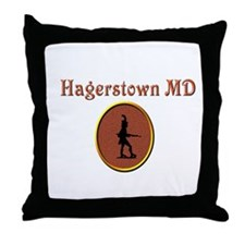 Little Heiskell (rust) Throw Pillow