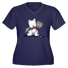 Mr. Perfect Women's Plus Size V-Neck Dark T-Shirt