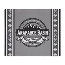 Arapahoe Basin Grey Throw Blanket