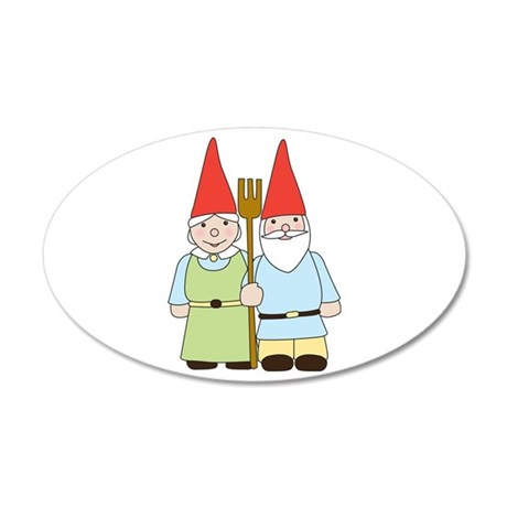 Gnome Couple Wall Decal