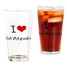 I Love Bat Mitzvahs Drinking Glass