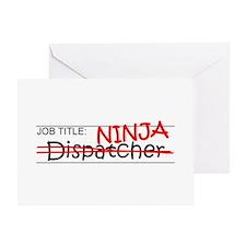 Job Ninja Dispatcher Greeting Card