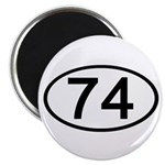 Number 74 Oval 2.25