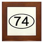 Number 74 Oval Framed Tile