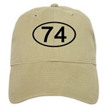 Number 74 Oval Cap
