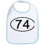 Number 74 Oval Bib