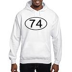 Number 74 Oval Hooded Sweatshirt