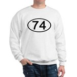 Number 74 Oval Sweatshirt