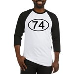 Number 74 Oval Baseball Jersey