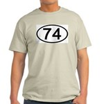 Number 74 Oval Ash Grey T-Shirt