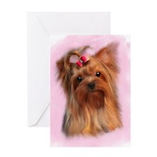 Blank Yorkshire terrier Greeting Card