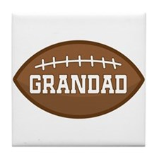 Grandad Football Sports Tile Coaster