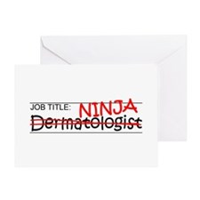 Job Ninja Dermatologist Greeting Card