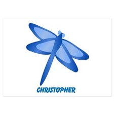 Personalized Dragonfly Flat Cards