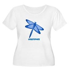 Personalized Dragonfly Plus Size T-Shirt