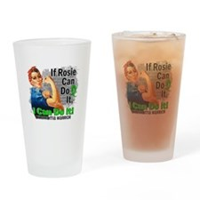 If Rosie Can Do It Lymphoma Drinking Glass