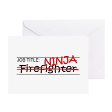 Job Ninja Firefighter Greeting Card