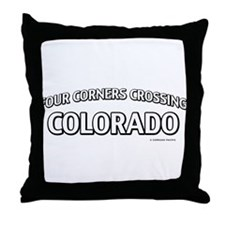 Four Corners Crossing Colorado Throw Pillow