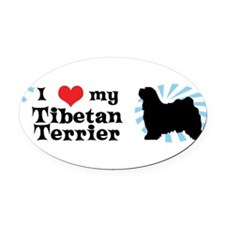Unique Terrier Oval Car Magnet