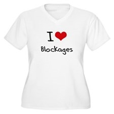 I Love Blockages Plus Size T-Shirt