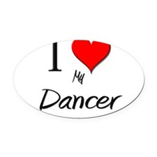 Cute Dance blog Oval Car Magnet