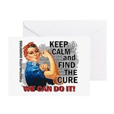 Rosie Keep Calm Mesothelioma Greeting Cards (Pk of