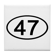 Number 47 Oval Tile Coaster