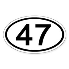 Number 47 Oval Oval Decal