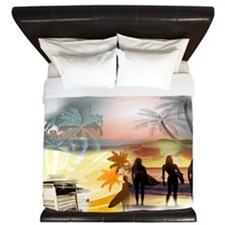 Surfer Girls King Duvet