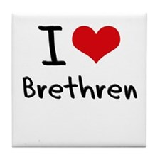 I Love Brethren Tile Coaster