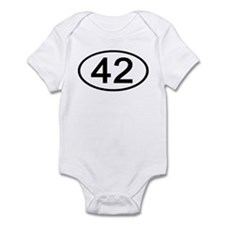 Number 42 Oval Infant Bodysuit