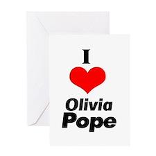 I heart Olivia Pope black Greeting Card