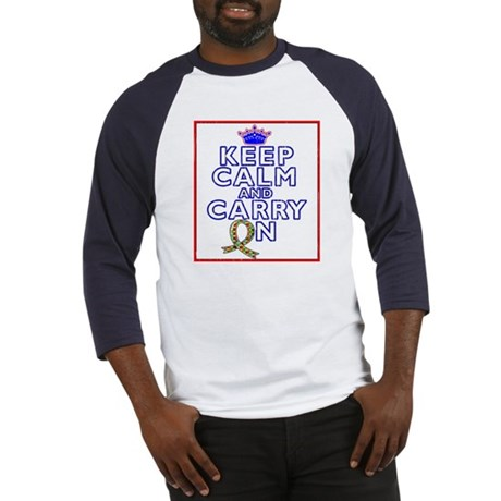 Autism Keep Calm Carry On Baseball Jersey