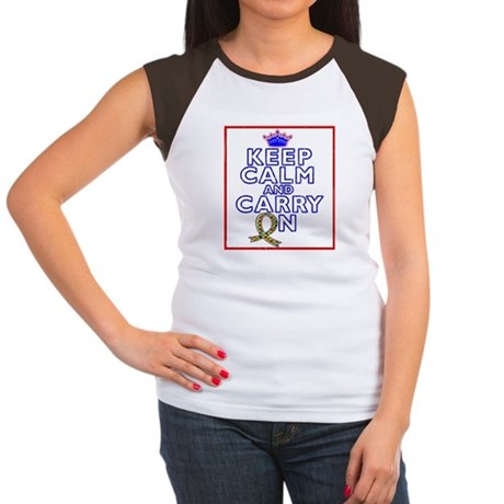 Autism Keep Calm Carry On Women's Cap Sleeve T-Shi