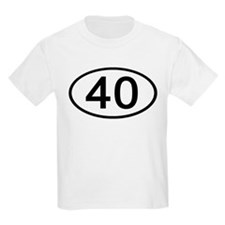 Number 40 Oval Kids T-Shirt