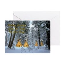Tipi Village Christmas Cards (Pkg. of 6)