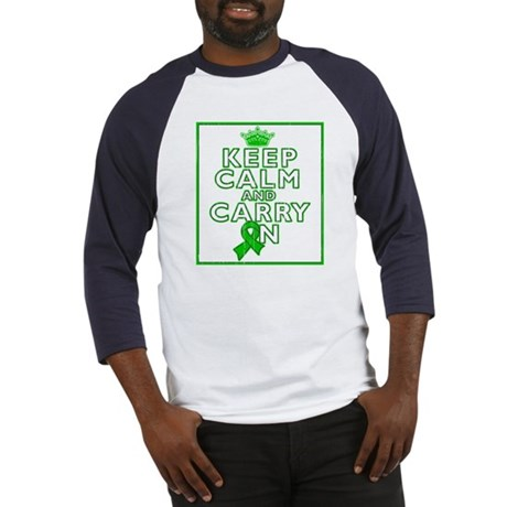TBI Keep Calm Carry On Baseball Jersey