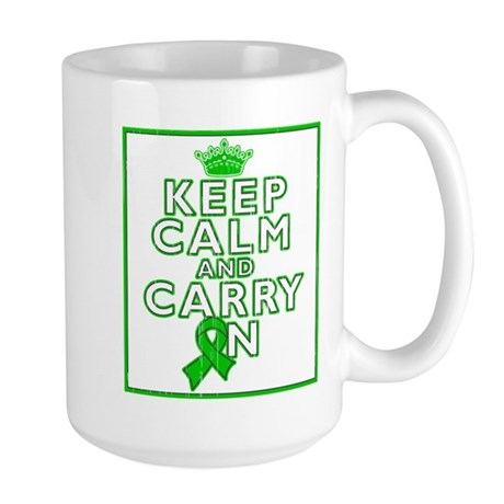 Spinal Cord Injury Keep Calm Carry On Large Mug
