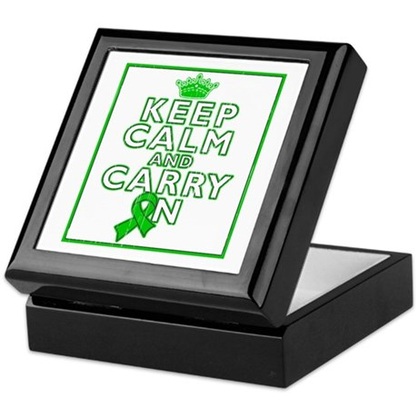 Spinal Cord Injury Keep Calm Carry On Keepsake Box
